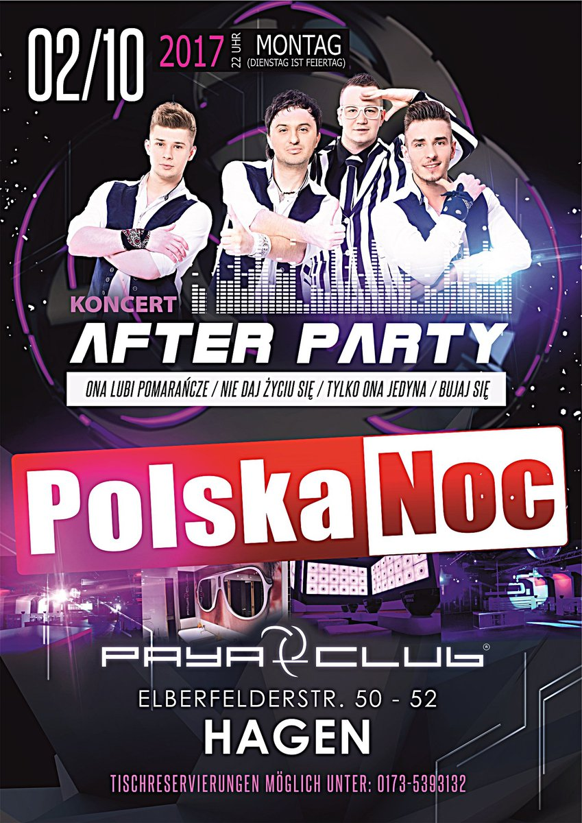 POLSKA NOC w HAGEN - Koncert AFTER PARTY live -