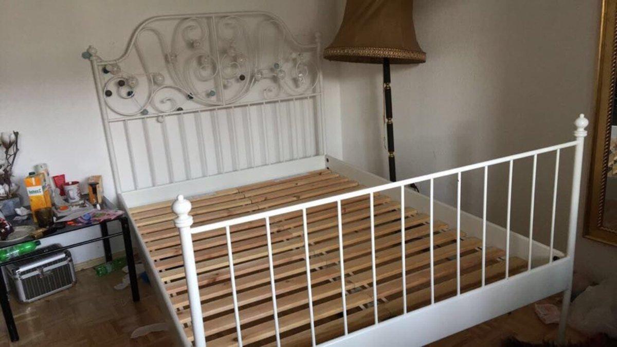 Zdjęcie Nr 2 W Galerii Treści Sprzedam łóżko Metalowe Biale